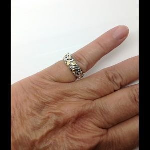 John Hardy Jewelry - John Hardy Sterling silver 18k dotted ring band