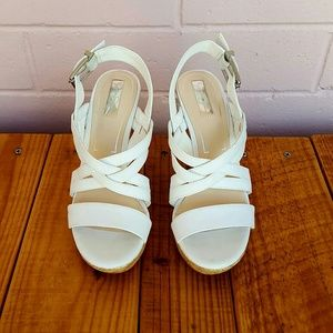 Jessica Simpson Shoes - SIZE 8 WHITE JESSICA SIMPSON WEDGES