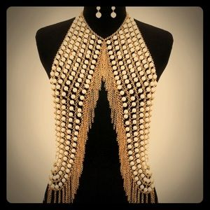 Jewelry - NWT pearl vest body chain necklace