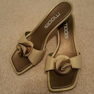Moda Spana Shoes - Moda slip on sandals, beige and bronze