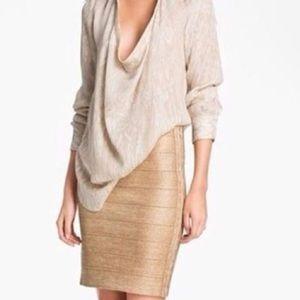 Haute Hippie Dresses & Skirts - Shimmery Bandage Pencil Skirt