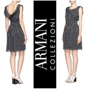 Armani Collezioni Dresses & Skirts - Armani Collezioni Silk Black & White Floral Dress