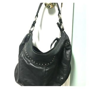 Black leather fossil purse.