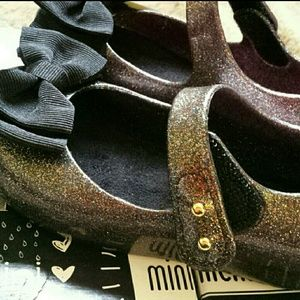 Mini Melissa Other - New in box Mini Melissa sandal Multi color glitter