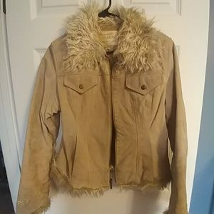 Maurices leather jacket.  Size M with fur