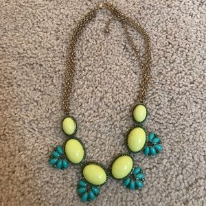 Yellow/turquoise beaded necklace piperlime