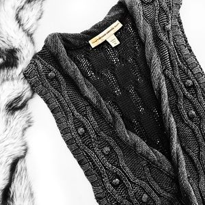 Nine West Tops - Nine West cable knit long cardigan vest