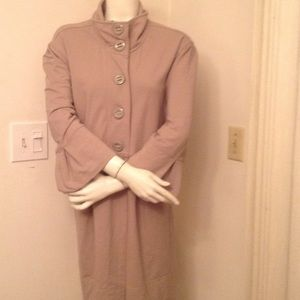Jackets & Blazers - TAN COVER UP / JACKET WITH BIG BUTTONS