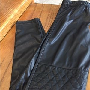 Hannah Banana Other - Girls size 8 faux leather leggings