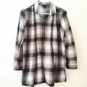 Heidi Klein Tops - Boutique medium plaid flannel tunic blouse