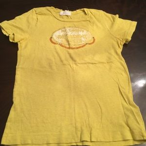 Fun yellow cotton t-shirt by J Crew