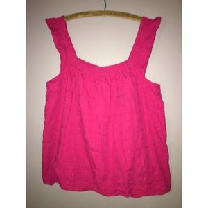 Tops - Pinks Sleeveless Cotton Top Sz 20