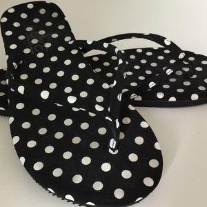 Eve Shoes - Polka Dot flip flops Sz 8