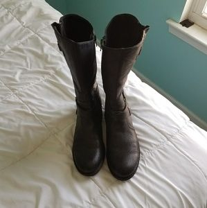 Bare Traps black leather boots