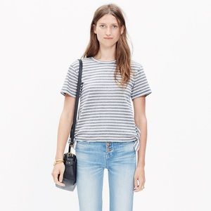 Madewell Side-tie Striped Cotton Shirt