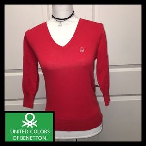 United Colors Of Benetton Sweaters - Benetton V Neck Sweater