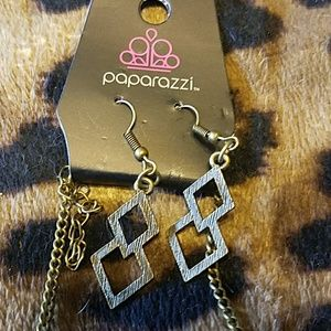 Jewelry - Brass Necklace and Earrings