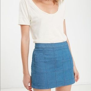 MOTHER Dresses & Skirts - Mother Lovin' Schools out patch Jean mini skirt 28