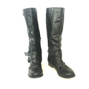 Carlos Santana Shoes - Knee High Black Boots