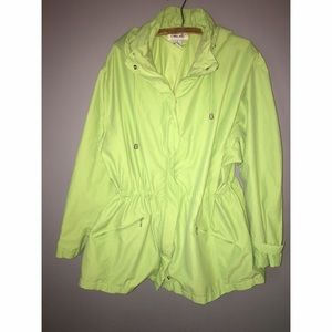 Jackets & Blazers - Spring Green Hooded Windbreaker Sz 2X