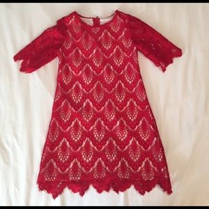 Rare Editions Other - Girls Lace Overlay Dress