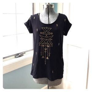 Element Tops - Witchy  tshirt with gold arrow and star detailing