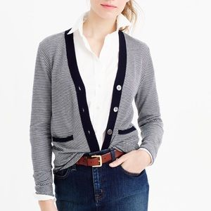 J. Crew Sweaters - J. Crew Fine Stripe V-neck Cardigan