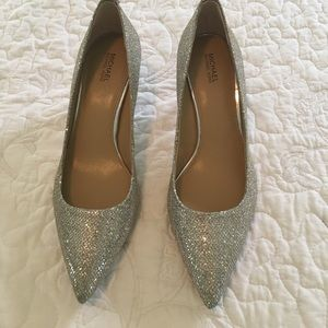 Michael Kors  silver shoes size-7 1/2.Never worn.