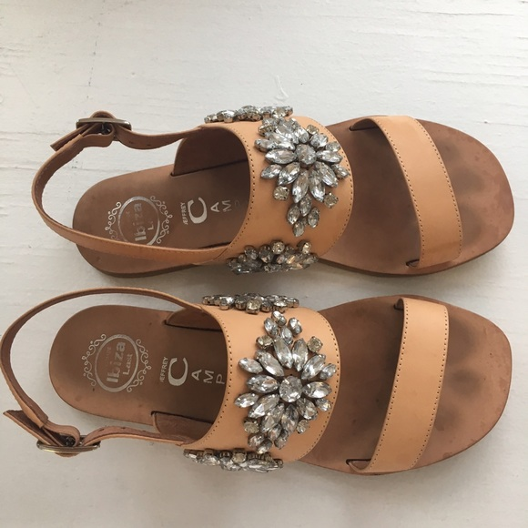 7388e2c0f3ed7 Anthropologie Shoes - Jeffrey Campbell Jeweled Leather Dola Sandals