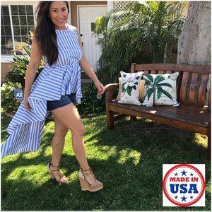 Mth Degree Dresses & Skirts - ☀️WKND SALE☀️ Hi Low Striped Blue & White Top
