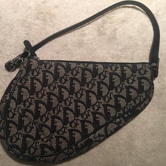 3645e0f0c50e Christian Dior Handbags - Blue Diorissimo canvas Christian Dior Saddle bag