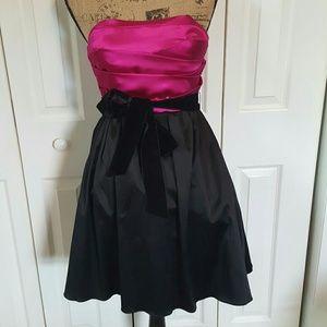 Dresses & Skirts - Black/Pink Strapless Dress NWOT