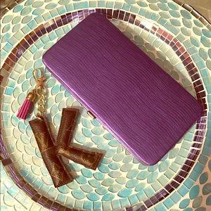 Riviera Handbags - Spring Fling! Slim Purple Wallet, Compact & Fab!