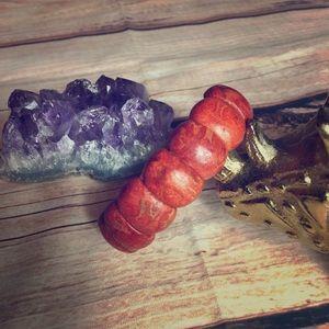 Jewelry - Vintage Mermaid Love Solid Coral Bracelet
