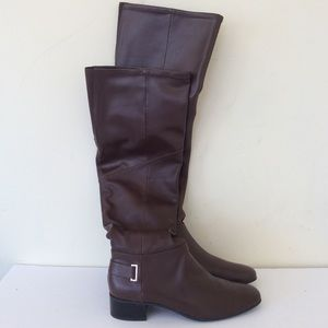 H by Halston Karlie Brown Knee High Boots