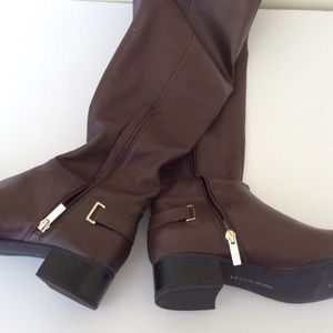 H by Halston Shoes - H by Halston Karlie Brown Knee High Boots