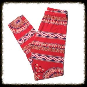 Super Soft Coral Feather Leggings