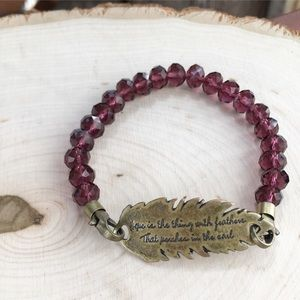 """wildarrow Jewelry - Wild """"Hope Is The Thing With Feathers"""" Bracelet"""