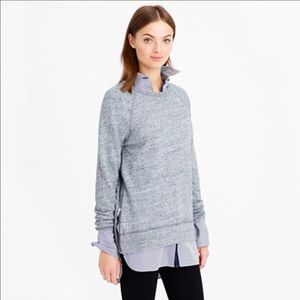 J. Crew Tops - J. Crew Side Zip Tunic Sweatshirt