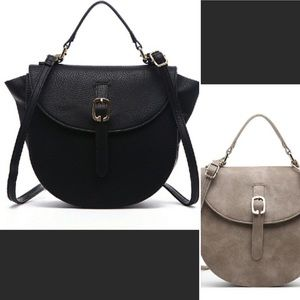 Pink Haley Handbags - Grey Taupe or Black cross body purse 👛