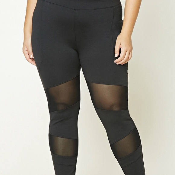 9abacc7362344a Forever 21 Pants | Plus Size Mesh Panel Leggings 2x | Poshmark