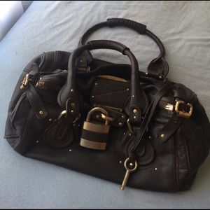CHLOE Paddington Black Leather Satchel