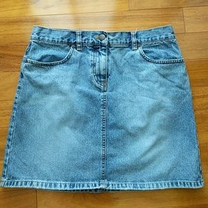 J. Crew classic denim skirt