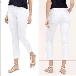 Ann Taylor Denim - Ann Taylor Loft white modern crop jeans 0