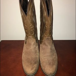 Laredo Shoes - Laredo Women's Tan Distressed Boots