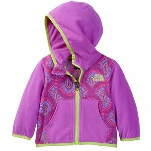 The North Face Other - The North Face Glacier Front Zip Hoodie Baby Girl