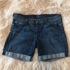 7 For All Mankind Pants - 7 for all mankind size 31 boyfriend shorts