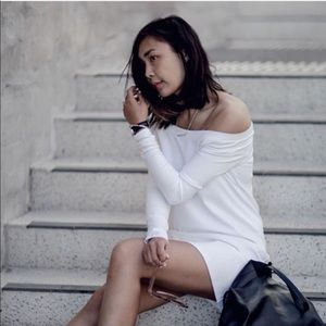 Tibi Dresses & Skirts - Off Shoulder Ponte Jersey Tunic
