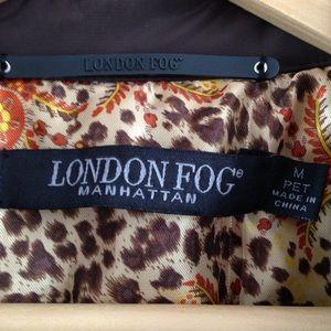 London Fog Jackets & Blazers - Chocolate brown London Fog Manhattan raincoat