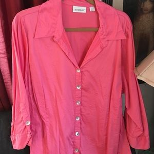 Avenue Tops - Pink button up shirt